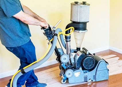 Hardwood Floor Sanding with Dustless Equipment