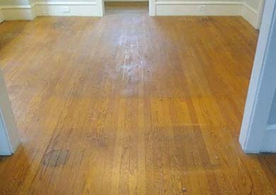 South Jersey Hardwood Floor Before