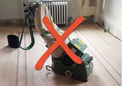 Dusty Way to Sand Wood Floors