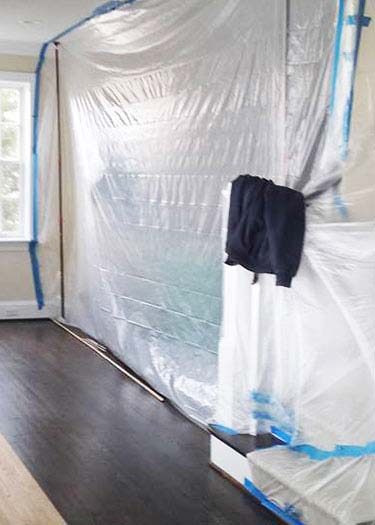 Sealing Room with Plastic Sheeting
