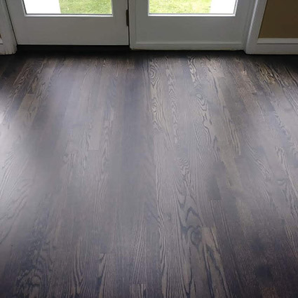 Custom stain with matte finish after