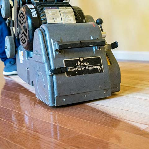 Sanding a Wood Floor in New Jersey