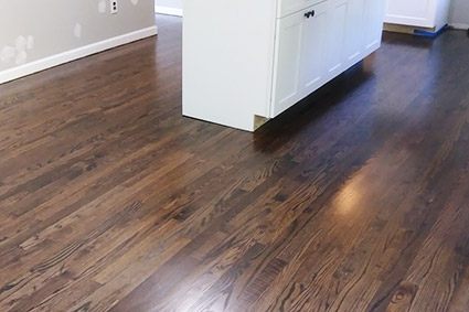 Cherry hill red oak floor after