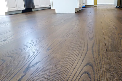 Lumberton NJ red oak floor after