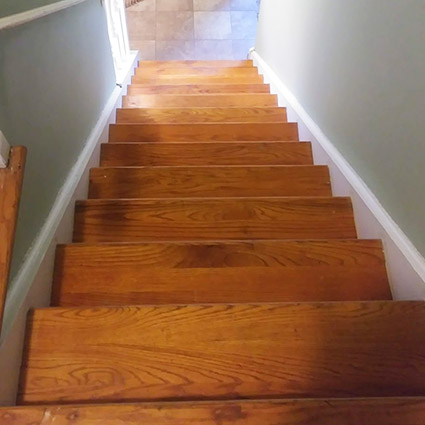 staircase in Cherry Hill NJ before