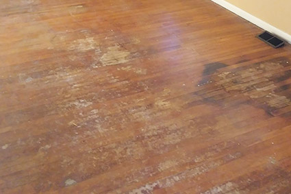 Cherry Hill red oak floor before