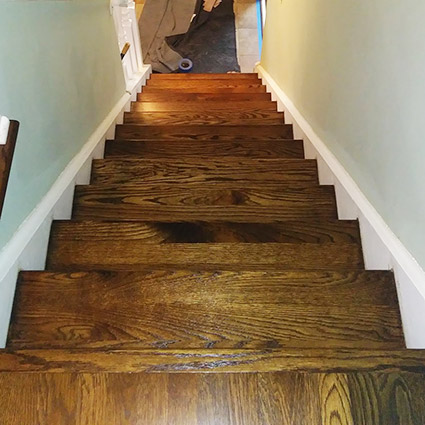 staircase in Cherry Hill NJ after